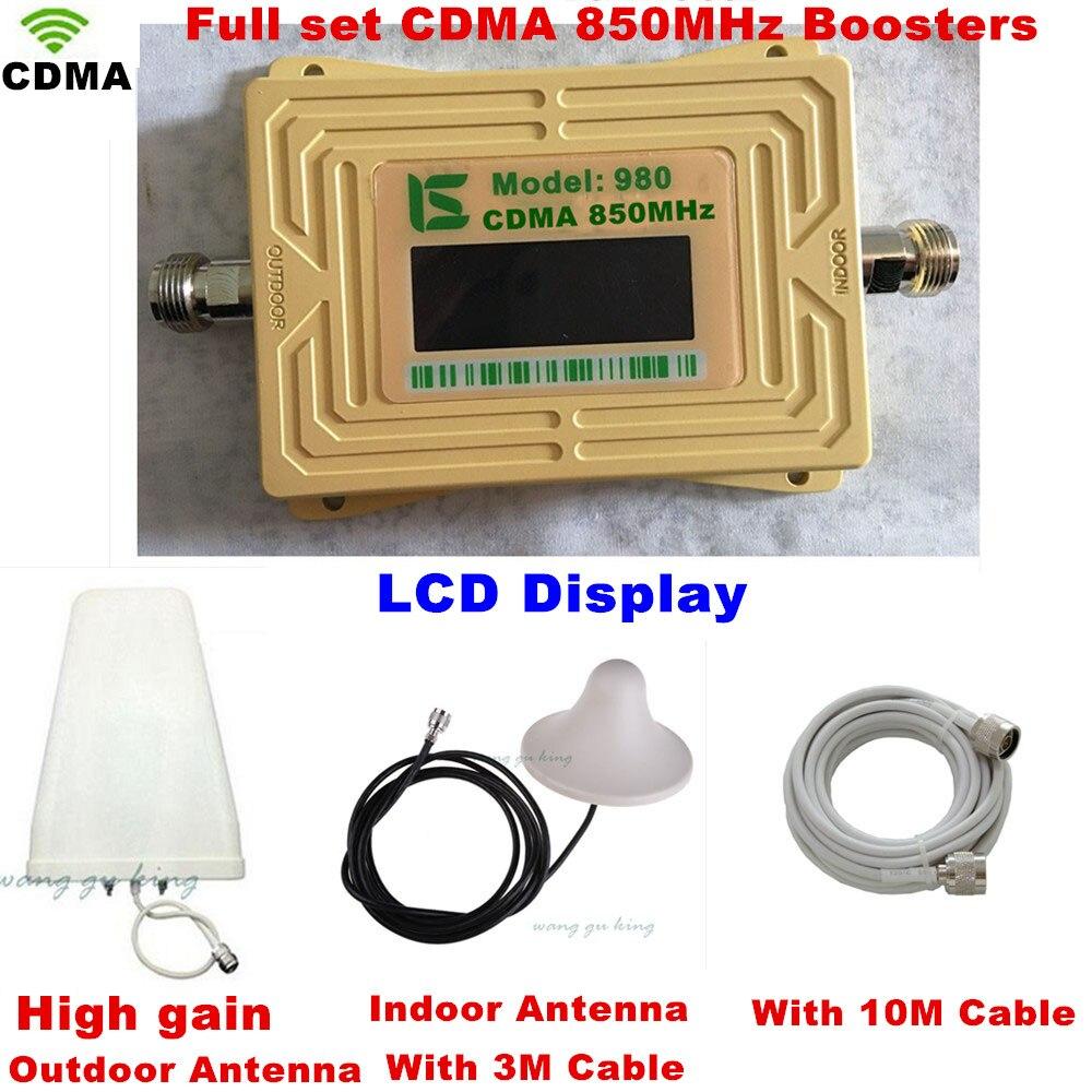 2 ans de garantie GSM 850 répéteur de Signal cellulaire CDMA 850 mhz amplificateur de Signal Mobile GSM 850 Booster de téléphone portable Kit complet