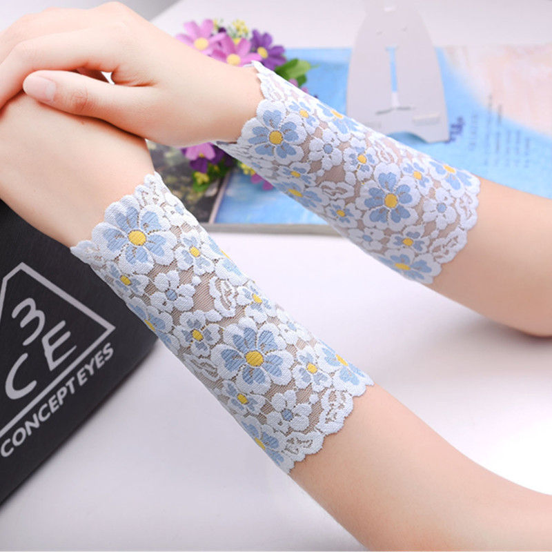 Women Summer Sunscreen UV Arm Sleeves Sun Protection Lace Arm Covers Driving Gloves Scar Covers Arm Warmer Mangas Para Brazos