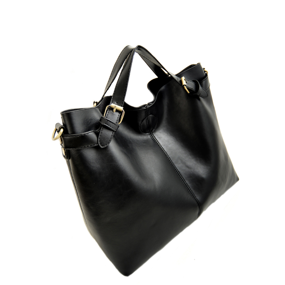 YEJIA FASHION Casual All-Matched Handbag Women Large Capacity Totes Bags Balck Work Business Shoulder Bags Lady Cross Body Bags