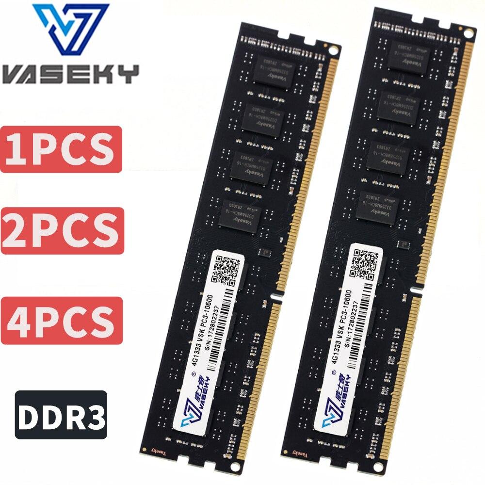 Vaseky 4 GB 8 GB 2 GB PC Memoria RAM Memoria para computadora de escritorio de PC3 12800 10600 DDR3 1333 MHz 1600 MHz 2G 4G 8g 16 GB 1333, 1600