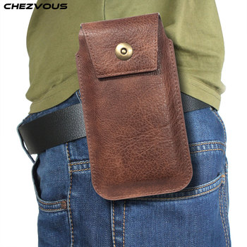 CHEZVOUS Holster Belt Phone Case 4.7 5.2 5.5 6.5 inch For iPhone Samsung Huawei Xiaomi Smart Phones Leather Ultra-thin Waist Bag