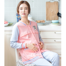 Autumn Winter Maternity Nursing Clothes For Pregnant Long Sleeve Luxury Soft Cotton Maternity Sleepwear For Feeding 60M0043