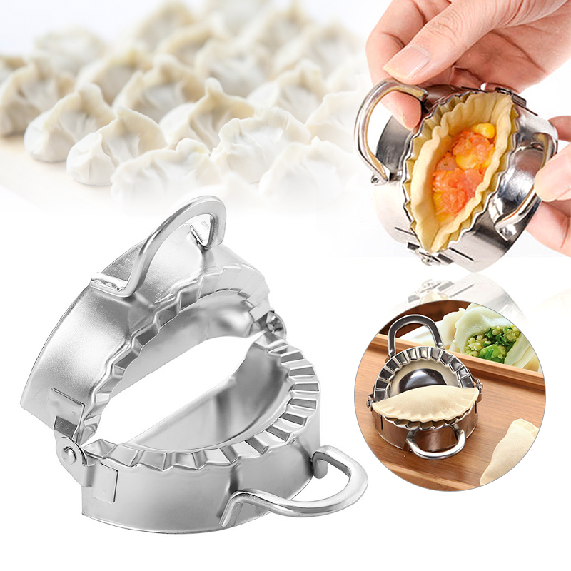 1pcs Stainless Steel Pocket Pie Crimper Mold Ravioli Mold Turnover Dumpling Maker Wrapper Pastry Dough Cutter Tools image