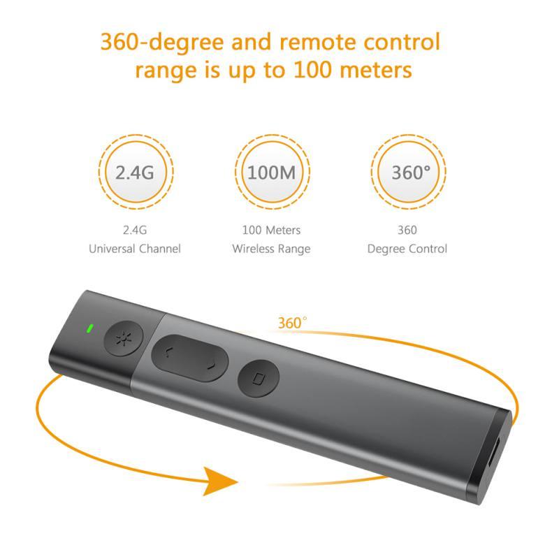Image 3 - Лазерная указка Флип ручка для презентаций Powerpoint 2,4 ГГц USB беспроводной Презентер PPT пульт дистанционного управления с зеленым лазером-in Пульты ДУ from Бытовая электроника