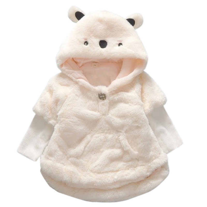 Baby Infant Girls Coat Winter Solid Faux Fur Fleece Long ...