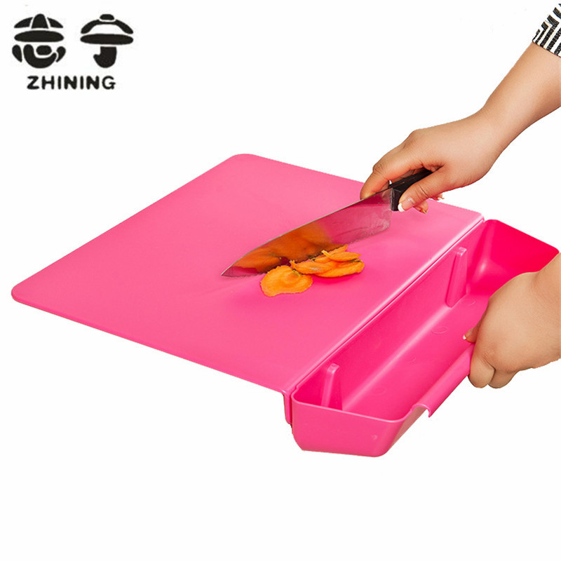 Function One Of The Five Building Blocks Of Kitchen: Plastic Cutting Board Creative Folding Multi Function 2 In