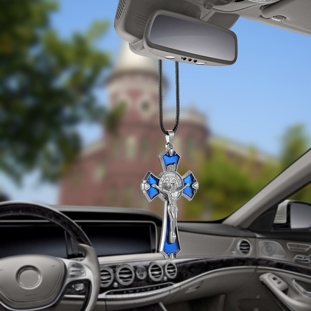 car pendant decoration jesus crucifix cross christian automobiles rearview mirror hanging. Black Bedroom Furniture Sets. Home Design Ideas