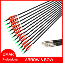 12pcs/lot Fiberglass Arrow 30″ O.D. 7.9mm/0.31″ Spine 800 for Recurve Bow Compound Bow Long Bow Hunting/Archery Accessories DMAR