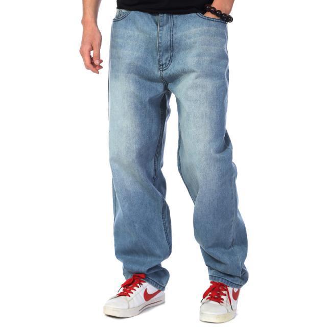 Plus size 30 46 hip 145cm Jeans men s baggy jeans plus size hip hop skateboard