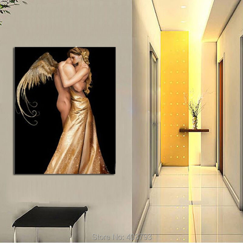 Barocco Christmas Gift Unframed Modern HD Printed Nude Oil Painting On Canvas Abstract Wall Picture For Living Room