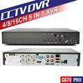 4Ch 8Ch 16Ch CVBS 1080N 5 EM 1 CVI TVI AHD CCTV DVR XVR Max 4 TB 1080 P Híbrido NVR Onvif P2P RS485 Controle PTZ Coxial Móvel vista