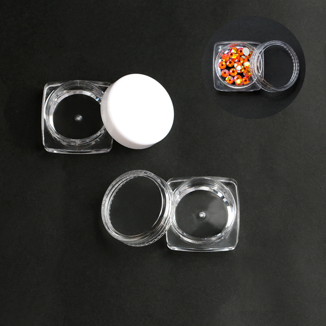 Practical jewelry storage Adjustable Plastic Compartment Storage Box Jewelry Earring Bin Case Container Storage Boxes