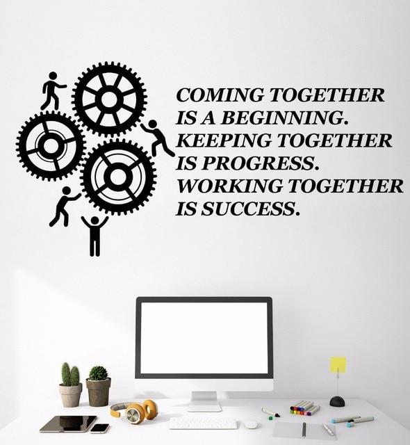 Gears Stickers Murals Creative Office Motivation Vinyl