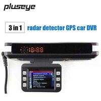 3 IN 1 Car DVR Radar Detector Built In GPS Logger HD 720P 140 Degree Angle