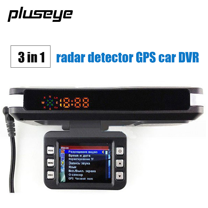 3 in 1 Car DVR Radar Detector Built-in GPS Logger HD 140 Degree Angle Russian Language Video Logger Dash Camera driver Recorder v9 car radar detector