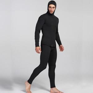 Image 2 - Yeni 3mm neopren dalgıç kıyafeti erkekler için yüzme sörf atlama takım elbise yüzey sıcak Wetsuit askı pantolon ve ceket 2 adet/takım