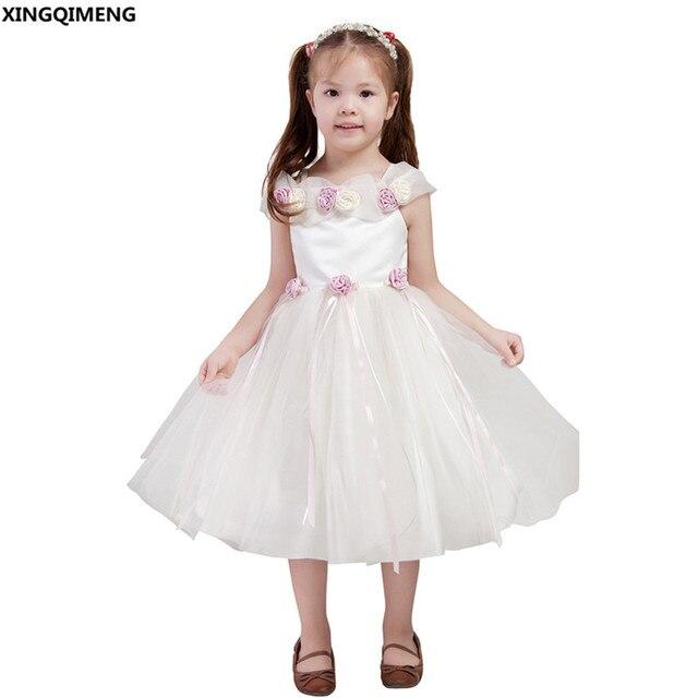 1efaddcbda92 Fancy Ball Gown Flower Girl Dresses Tulle Raso Prima Comunione Abiti Damine  Gown Bella vestido de