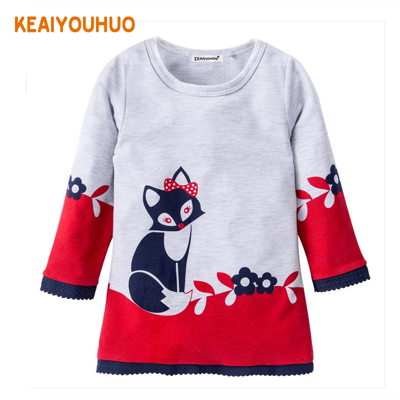 Girls Winter Dress Casual Girls Long-Sleeve Dress Kids O-neck Dresses for Girls Dress 2017 New Spring Girl Clothes brand girl dress 2017 new winter fashipn printing dresses for girls solid color long sleeve kids clothes girls 4477w