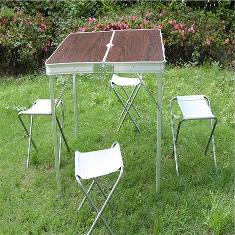 86*80.5*69cm Durable folding Outdoor tables Picnic table with chairs For camping & beach fireprofing board office folding table portable indoor outdoor picnic party camping center folding tables with 4 folding chairs