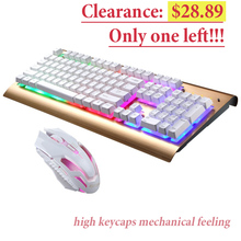 лучшая цена Backlight LED Pro Gaming Keyboard USB Wired Mechanical Keyboard Gamers Computer Peripherals Desktop PC