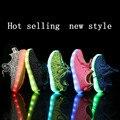 Primavera de 2017 new led esporte shoes brilho brilho tênis tênis com luz up solas princesa menina shoes crianças meninas sneakers