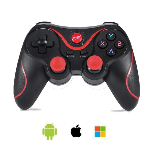 Sem fio Bluetooth 3.0 Game Controller Terios T3/X3 Para PS3/Android Smartphone Tablet PC Com TV Box Titular gamepad T3 + Remoto