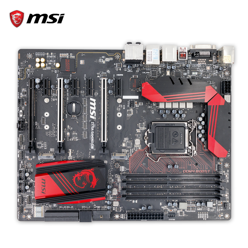 MSI Z170A GAMING M5 Original Used Desktop Motherboard Z170 LGA 1151 i3 i5 i7 DDR4 64G