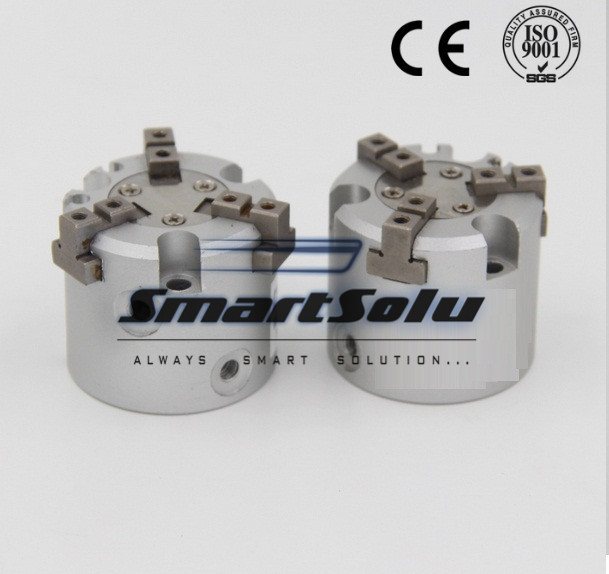 Free Shipping 125mm bore double acting 4 finger parallel air gripper MHS4-125D mhs3 16d 20d 25d 32d 40d 50d 63d 80d 100d 125d parallel style air gripper 3 finger double action rotating cylinder bore 16 125mm