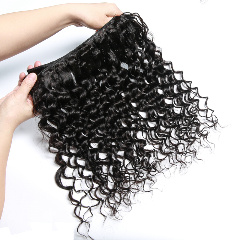 Bigsophy Malaysian Deep Wave Hair 3 Bundles With Lace Closure Baby Hair Free/Middle/Three Part 4pcs/Lot Human 100% Remy Hair