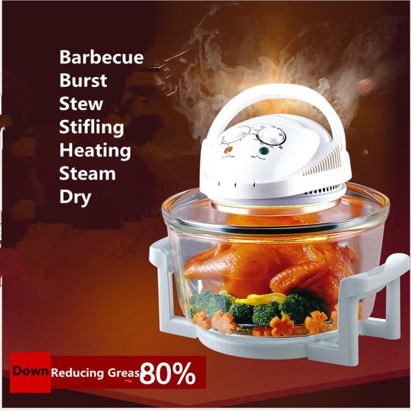 220V 1300W Electric Convection Oven Multifunctional Air Flavor Turbo Oven Non-stick Fast Heating Oven EU/AU/UK Plug turbo air kr25 1