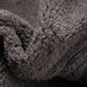 Image 5 - Luxury Real Sheepskin Fur Men Coat Genuine Silver Fox Fur Hood Sheep Shearling Male Long Outwear Black Men Fur Overcoat 4XL