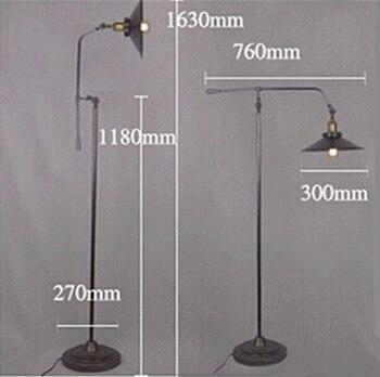 Bref Lampadaire Fer Industriel Loft Lampe Sur Pied Maison Liseuses Studio Bureau éclairage Pays Simple Et Beau