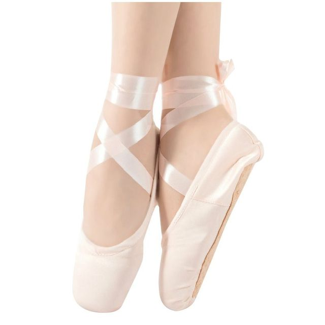 6092919bee9 1 pair Child Ballet Pointe Dance Shoes Professional Ballet Dance Shoes with Ribbons  Shoes -US Size