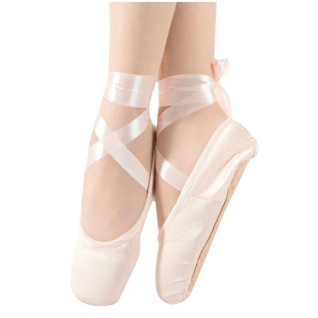 3638941c4647 1 pair Child Ballet Pointe Dance Shoes Professional Ballet Dance Shoes with Ribbons  Shoes -US Size