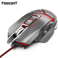 Gaming Mouse 11 key USB Wired Optical Gaming Mice Game Colorful Macro Programming Mouse Grip Comfortable 3200dpi Adjustable
