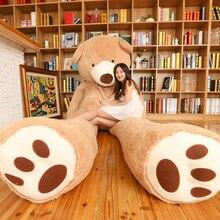 100-340 см гигантский плюшевый медведь большой Медведь стежка кожа ненабитая мягкая плюшевая игрушка чучело игрушки для детей подарок на день Святого Валентина любовь