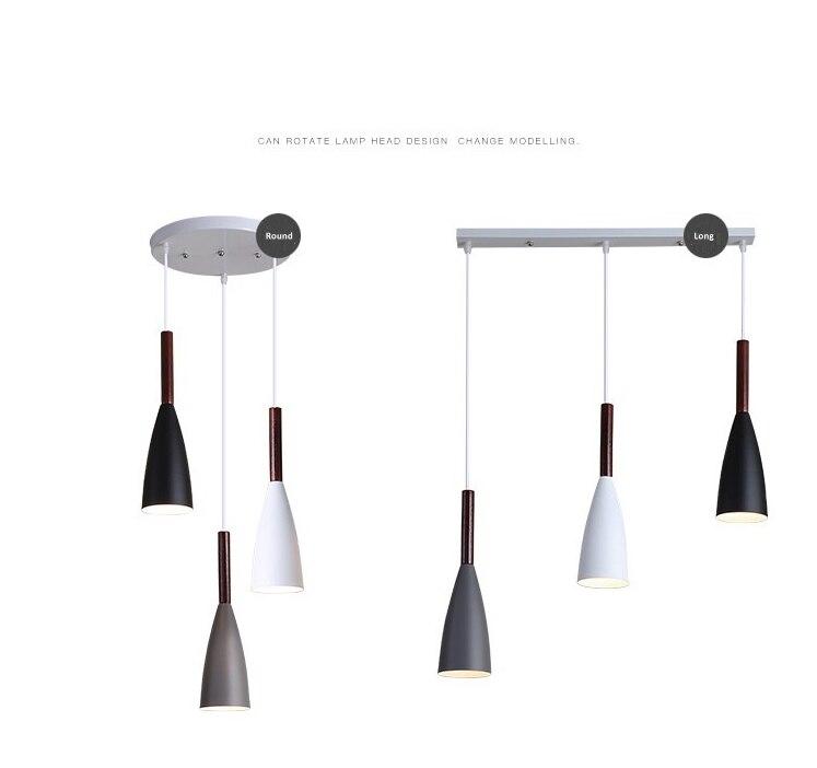 LuKLoy Modern Pendant Light Kitchen Hanging Lamp Dining Room Kitchen Lighting Fixture Loft Decor Wood Hanglamp luminaire Lustre (11)
