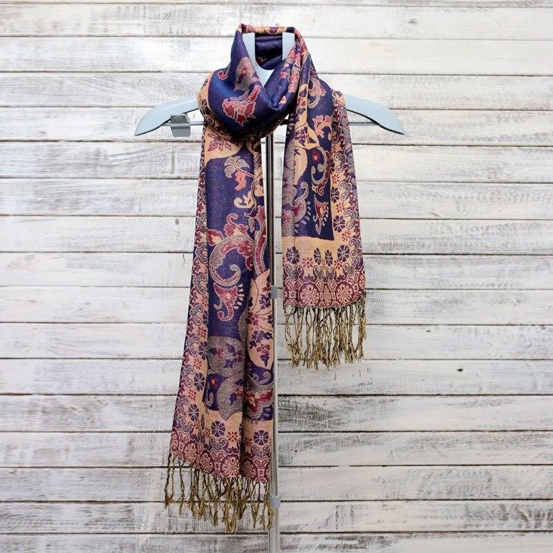 Jacquard   Scarves   Shawls for Women Brand Cotton Silk Warm soft   scarf   Circle Bubbles Design Fringes Pashmina 180*70cm   Wraps