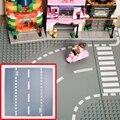 2017 Новый Лепин Дорожные Плиты Строительные Блоки Части Кирпич Пластиковые Bsae Плиты Бесплатная доставка подарок На День Рождения