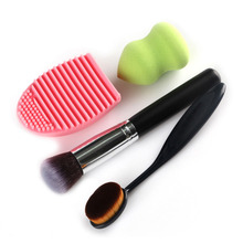 New Design Cosmetic Foundation brushes Toothbrush washing powder makeup brush egg mix beauty makeup tools Powder Brush Kits