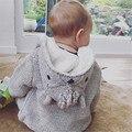 2016 niños del invierno del otoño nuevos suéteres ropa de bebé niña vestidos vetement kikikids christmas baby BOY ROPA de COLA de DIBUJOS ANIMADOS CAPA