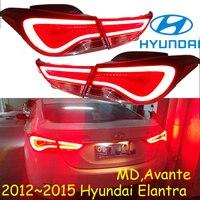 Elantra Taillight MD Avante 2012 2015 Free Ship LED 4pcs Set Elantra Rear Light Elantra Fog