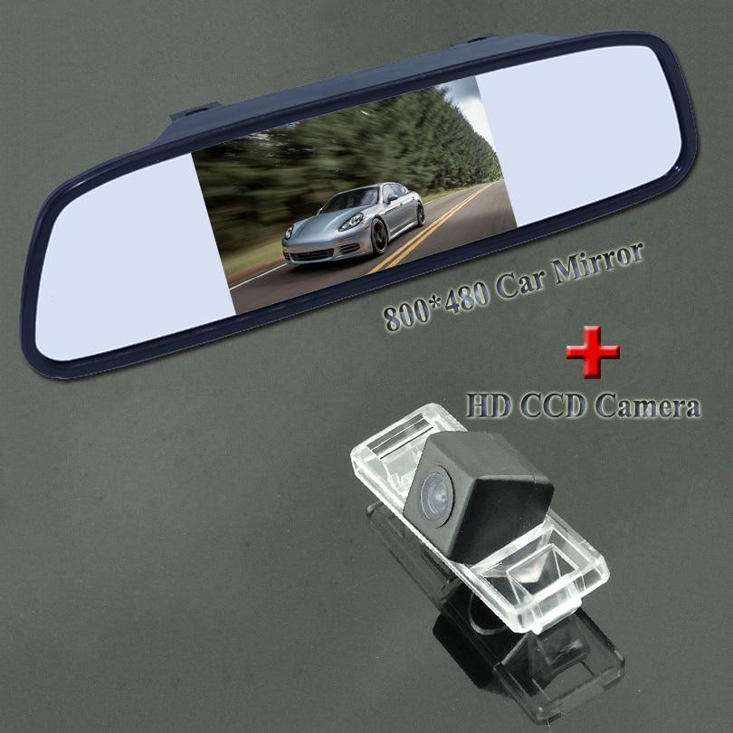 170 wide angle car reversing font b camera b font 4 3 car parking monitor adapt