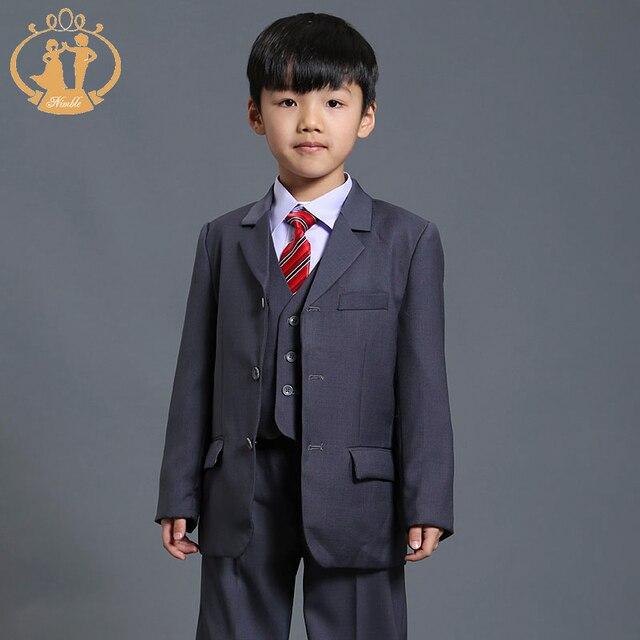 475760dd2 Nimble Boys trajes para bodas traje gris para niño Raditional Blazer Formal  establece fiesta de cumpleaños