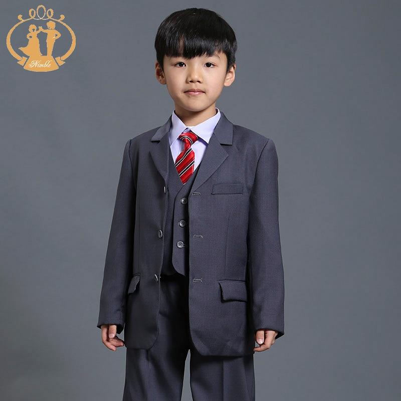 Nimble Boys trajes para bodas traje gris para niño raditional blazer ...