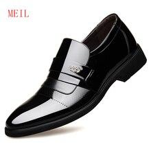 Classic Dress Shoes Men Leather Formal Oxford For Sapato Social Masculino Zapatos De Hombre Vestir