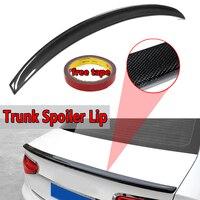 Real Carbon Fiber Rear Trunk Spoiler Lip For Audi S4 B8 Sedan 4dr 2009 2012 Rear Wing Spoiler Rear Trunk Roof Wing Carbon Fiber