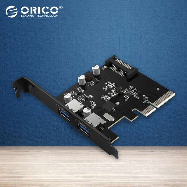 ORICO PA31-2P USB3.1 Escritorio 2 Puertos Tarjeta PCI Express de Escritorio-Negro