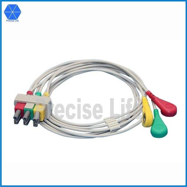 Kompatibel M1615A ekg kabel leitungsdraht set mit snap 100 cm IEC 3 ...
