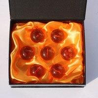 7 unids/set 3.5 CM Dragon Ball Z Bolas De Cristal Bola de Dragón 2018 bola Completa Set Nuevo en caja modelo Figuras de Acción de construcción juguetes